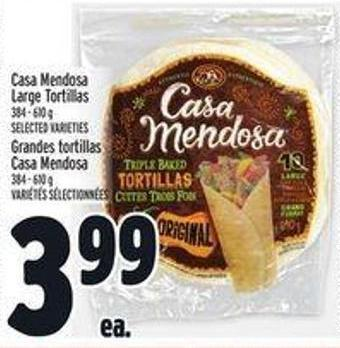 Casa Mendosa Large Tortillas