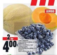 Jumbo Cantaloupes Or Blueberries 170 G