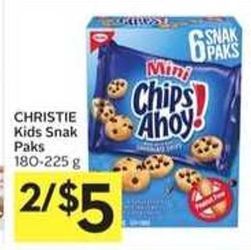 Christie Kids Snak Paks