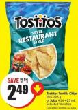 Tostitos Tortilla Chips 205-295 g or Salsa 416-423 mL Selected Varieties