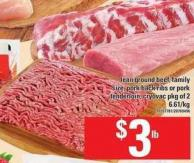 Lean Ground Beef - Family Size - Pork Back Ribs Or Pork Tenderloin