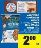 Voortman Cookies Or Wafers - 240/300 G Or Wild Rice Works Crisps - 155 G