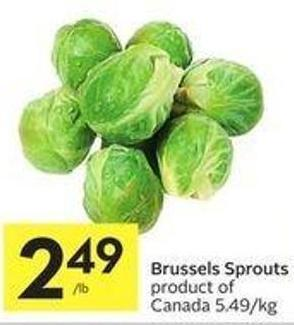 Brussels Sprouts Product of Canada 5.49/kg