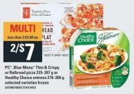 PC - Blue Menu Thin & Crispy Or Flatbread Pizza 335-397 g Or Healthy Choice Entrees 276-306 g