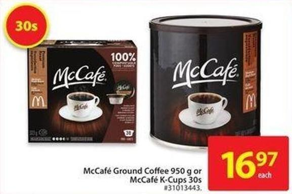 Mccafé Ground Coffee 950 g or Mccafé K-cups 30s