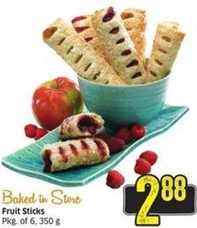 Fruit Sticks Pkg of 6 - 350 g