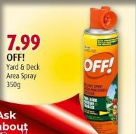Off! Yard & Deck Area Spray 350g