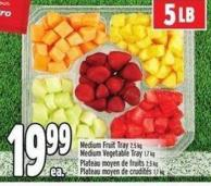 Medium Fruit Tray 2.5 Kg Medium Vegetable Tray 1.7 Kg