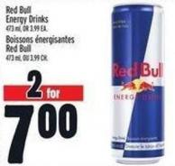 Red Bull Energy Drinks 473 mL - or 3.99 Ea.