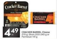 Cracker Barrel Cheese 270 g - Slices 200-240 g or Parmesan 141 g