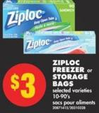 Ziploc Freezer or Storage Bags - 10-90's