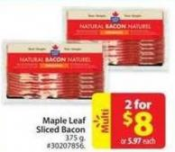 Maple Leaf Sliced Bacon