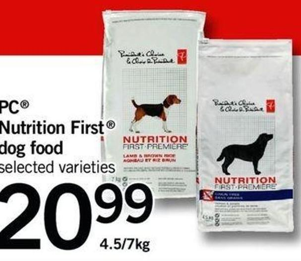 PC Nutrition First Dog Food