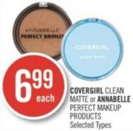 Covergirl Clean Matte or Annabelle Perfect Makeup Products