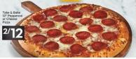 Take & Bake 12in Pepperoni or Cheese Pizza