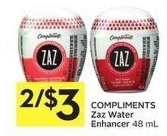 Compliments Zaz Water Enhancer