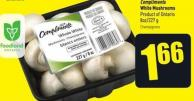 Compliments White Mushrooms Product of Ontario 8oz/227 g