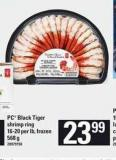 PC Black Tiger Shrimp Ring - 16-20 Per Lb - 568 g