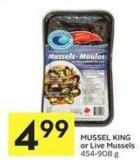 Mussel King or Live Mussels 454-908 g