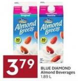 Blue Diamond3.79 Blue Diamond Almond Beverages 1.89 L