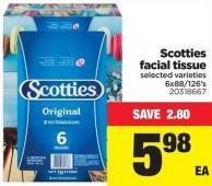 Scotties Facial Tissue - 6x88/126's
