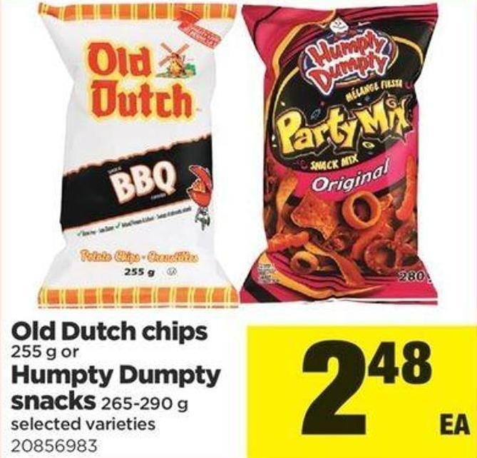 Old Dutch Chips - 255 G Or Humpty Dumpty Snacks - 265-290 G