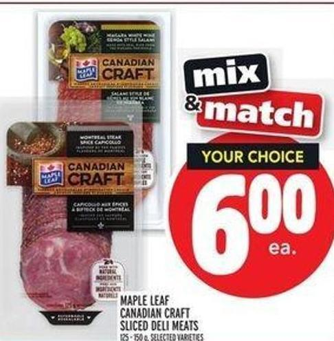 Maple Leaf Canadian Craft Sliced Deli Meats