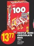 Nestlé Mini Chocolate Box - 100's