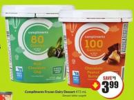 Compliments Frozen Dairy Dessert 473 mL
