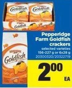 Pepperidge Farm Goldfish Crackers - 156-227 g or 6x28 g