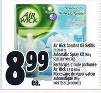 Air Wick Scented Oil Refills 2 X 20 ml Automatic Spray Kit 180 g