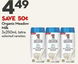 Organic Meadow Milk 3x250ml Tetra