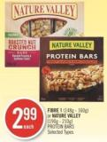 Fibre 1 (148g - 160g) or Nature Valley (190g - 210g) Protein Bars