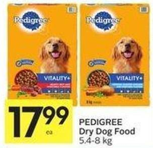 Pedigree Dry Dog Food 5.4 - 8 Kg