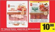 PC Natural Choice Salami Trio Or Deli Assortment - 250/400 g