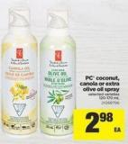 PC Coconut - Canola Or Extra Olive Oil Spray - 120-170 mL