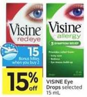 Visine Eye Drops - 15 Air Miles Bonus Miles