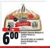 Rudolph's Bavarian Multigrain or Sandwich Bread