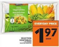 Selection Vegetables