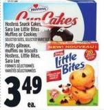 Hostess Snack Cakes - Sara Lee Little Bites Muffins Or Cookies