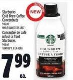 Starbucks Cold Brew Coffee Concentrate 946 ml