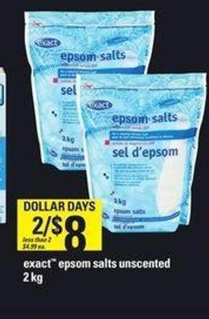 Exact Epsom Salts Unscented