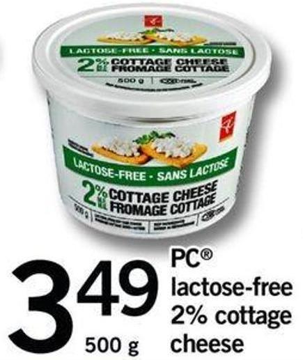PC Lactose Free 2% Cottage Cheese - 500 G