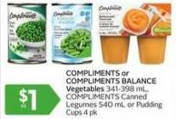 Compliments or Compliments Balance Vegetables