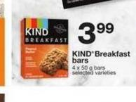 Kind Breakfast Bars - 4 X 50 g Bars