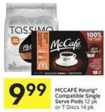 Mccafé Keurig Compatible Single Serve Pods 12 Pk or T Discs 14 Pk
