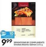 Sensations By Compliments Smoked Atlantic Salmon 200 g - 10 Air Miles Bonus Miles