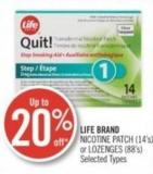 Life Brand Nicotine Patch (14's) or Lozenges (88's)