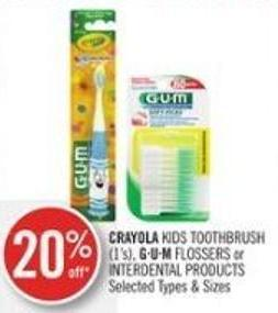 Crayola Kids Toothbrush (1's) - Gu.m Flossers or Interdental Products