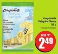 Compliments Stringable Cheese 168 g